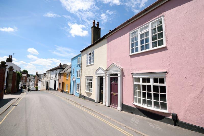 цветастые townhouses стоковые фотографии rf