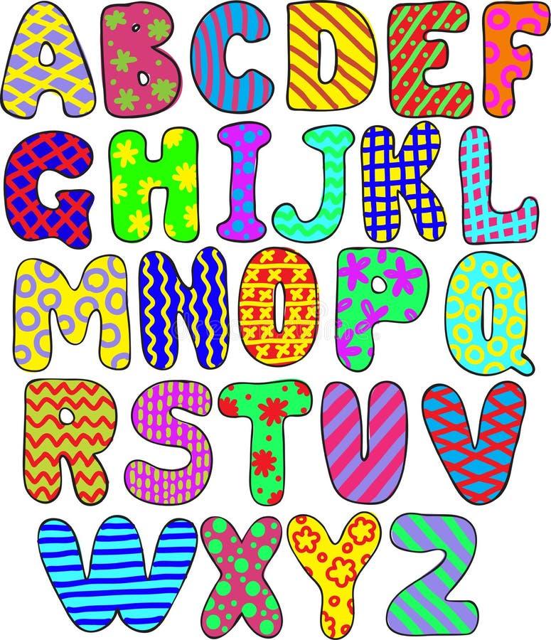 Цветастый алфавит бесплатная иллюстрация