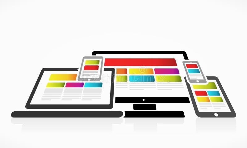 Цветастый веб-дизайн бесплатная иллюстрация