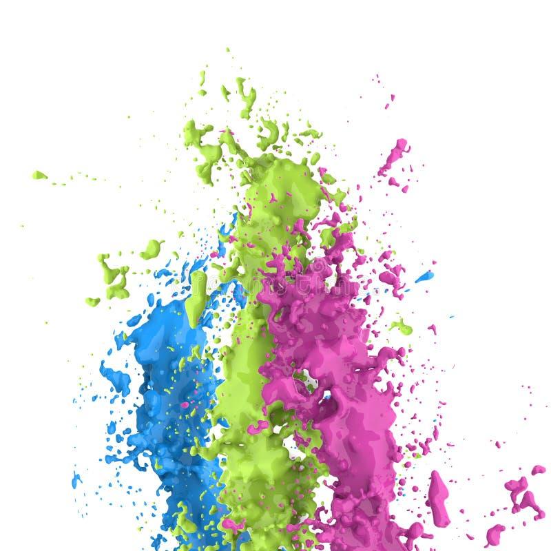цветастый выплеск иллюстрация вектора