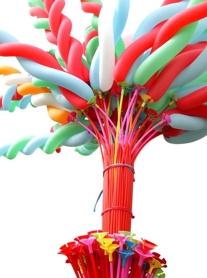 Цветастый вытянутый воздушный шар стоковое изображение