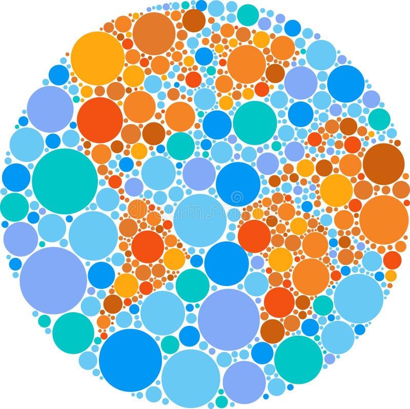 Цветастый глобус круга бесплатная иллюстрация