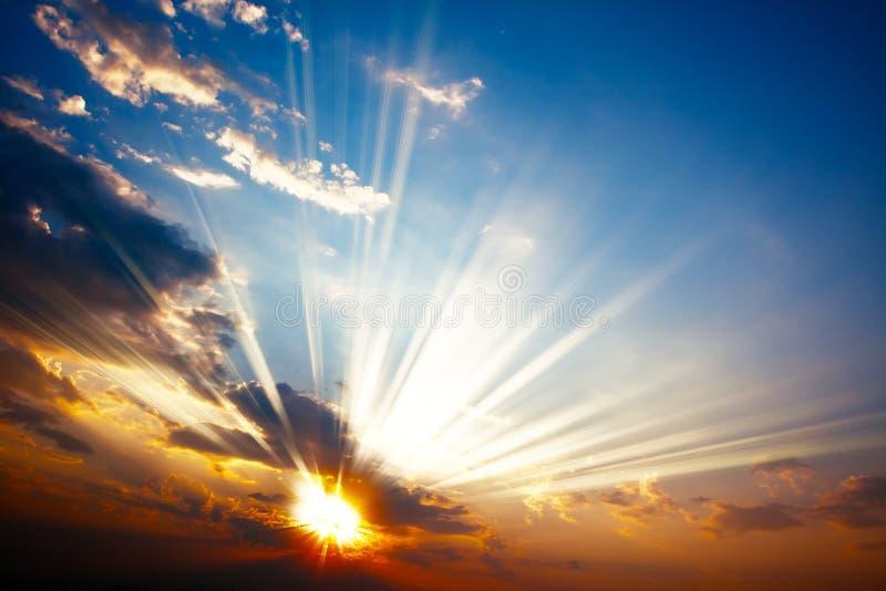 цветастый заход солнца стоковое изображение