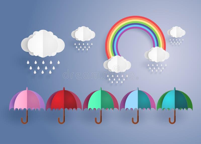 цветастый зонтик бесплатная иллюстрация