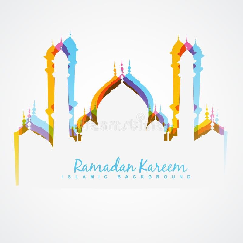 Цветастый дизайн мечети иллюстрация вектора