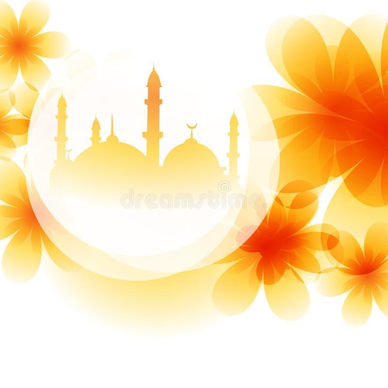 Цветастый дизайн мечети иллюстрация штока