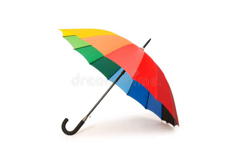 цветастый изолированный зонтик стоковые изображения