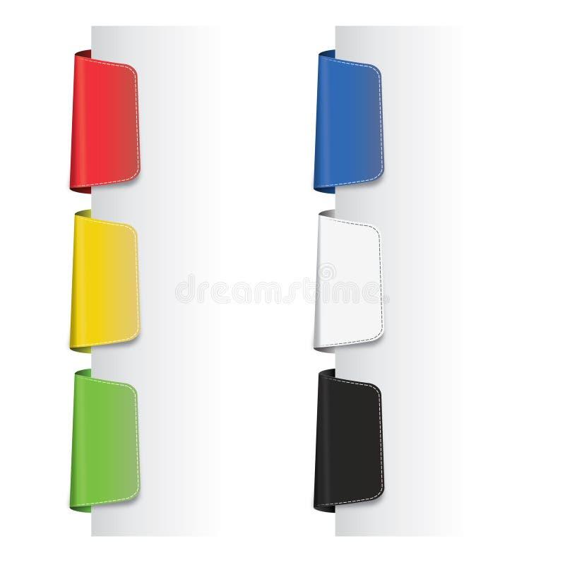 цветастый комплект ярлыков иллюстрация вектора