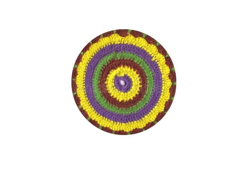 цветастый крюк вязания крючком стоковая фотография