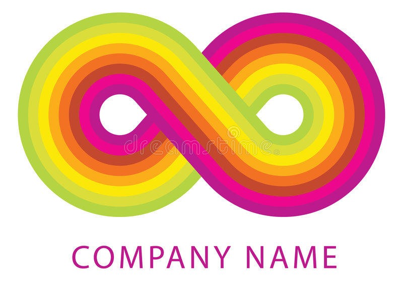цветастый логос бесплатная иллюстрация