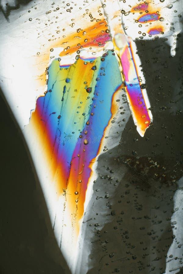 цветастый льдед кристаллов стоковая фотография
