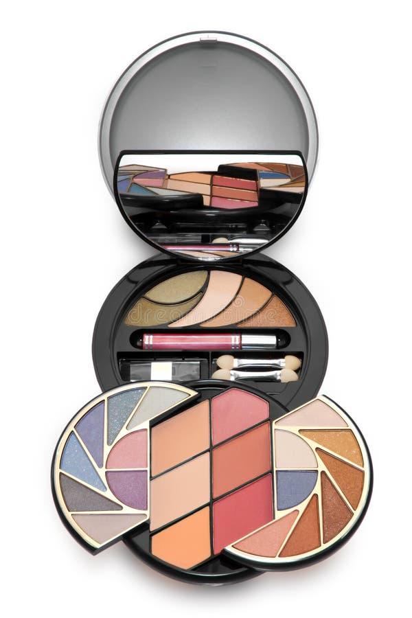 цветастый набор косметик составляет стоковые изображения rf