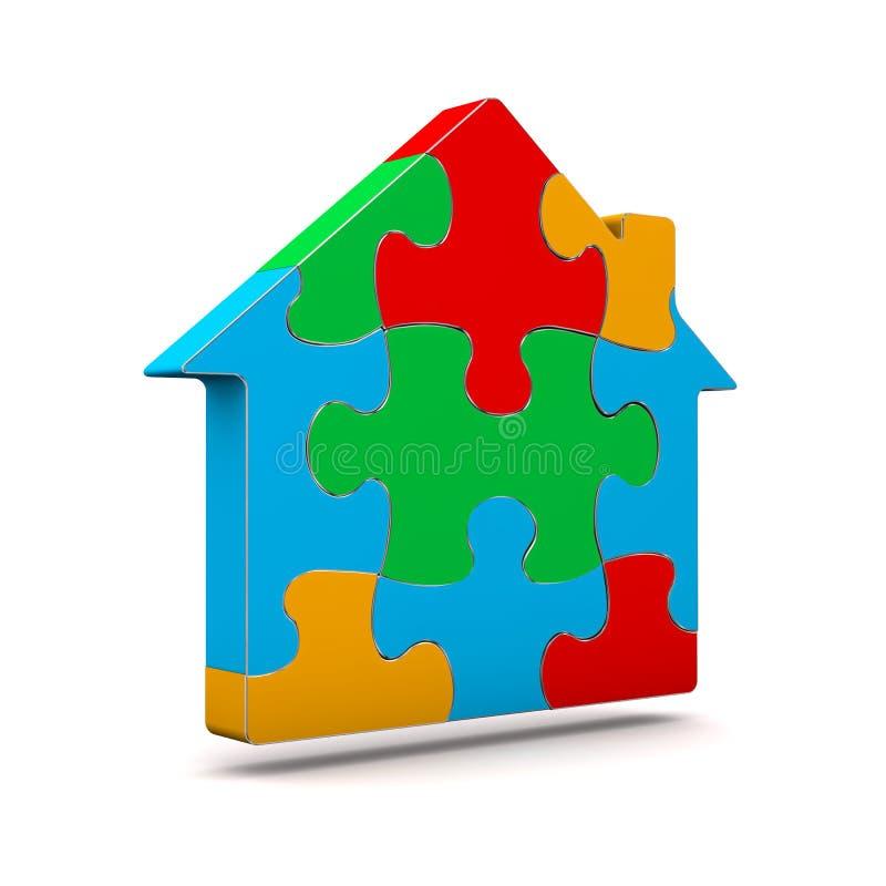 Цветастый дом головоломки бесплатная иллюстрация