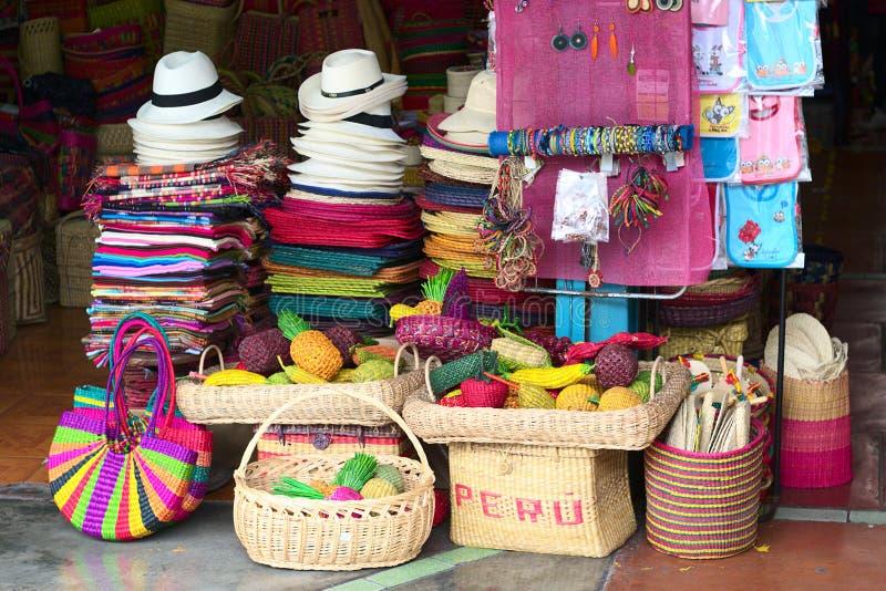 цветастый рынок lima inca ремесленничеств стоковые изображения