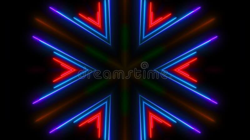 цветастый светлый неон Абстрактный фон цифров стоковое фото