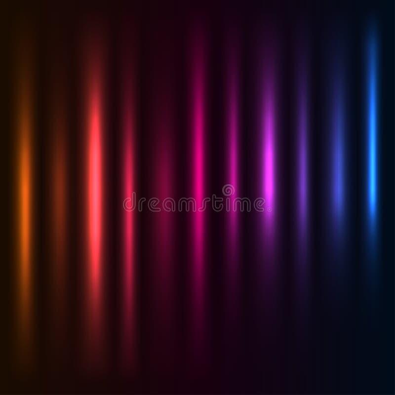 цветастый свет колонок иллюстрация вектора