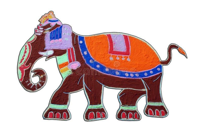 цветастый слон стоковое изображение rf