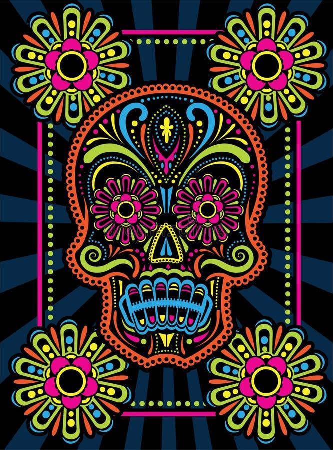 День мертвого черепа конфеты иллюстрация вектора