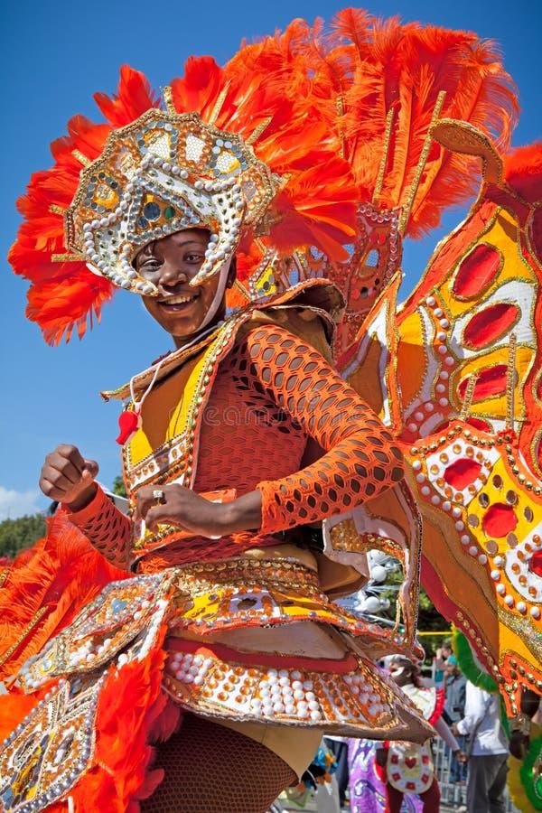 Цветастый танцор Junkanoo стоковые изображения rf
