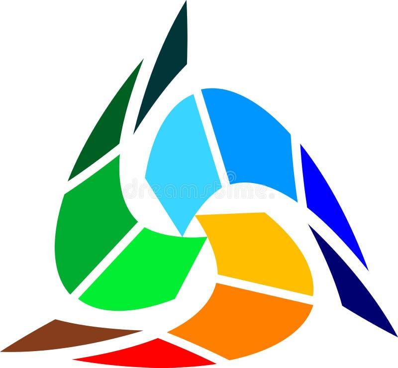 цветастый треугольник бесплатная иллюстрация