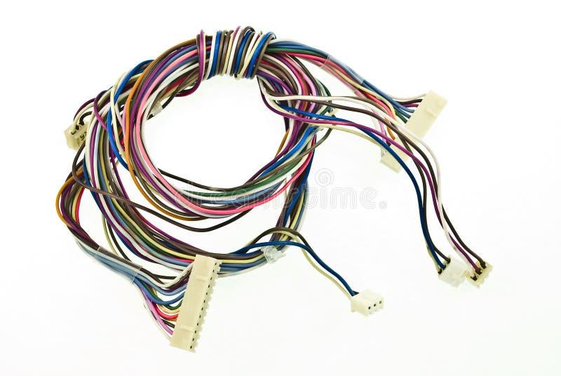 цветастый электрический провод стоковая фотография