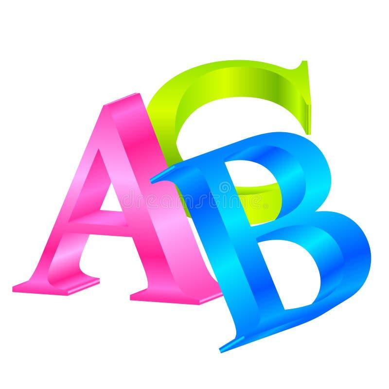Цветастый ABC бесплатная иллюстрация