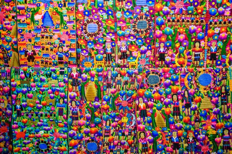 цветастый guatemalan ткани стоковое изображение rf