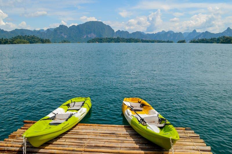 цветастый kayak стоковое изображение rf
