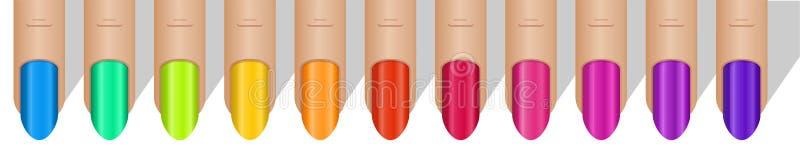 цветастый manicure иллюстрация штока