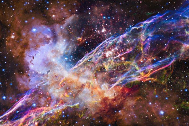 цветастый nebula Элементы этого изображения поставленные NASA иллюстрация вектора