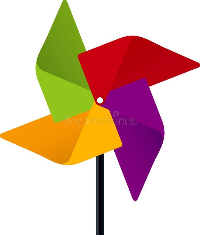цветастый pinwheel иллюстрация штока