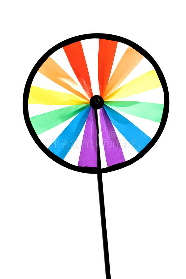 цветастый pinwheel стоковое фото rf
