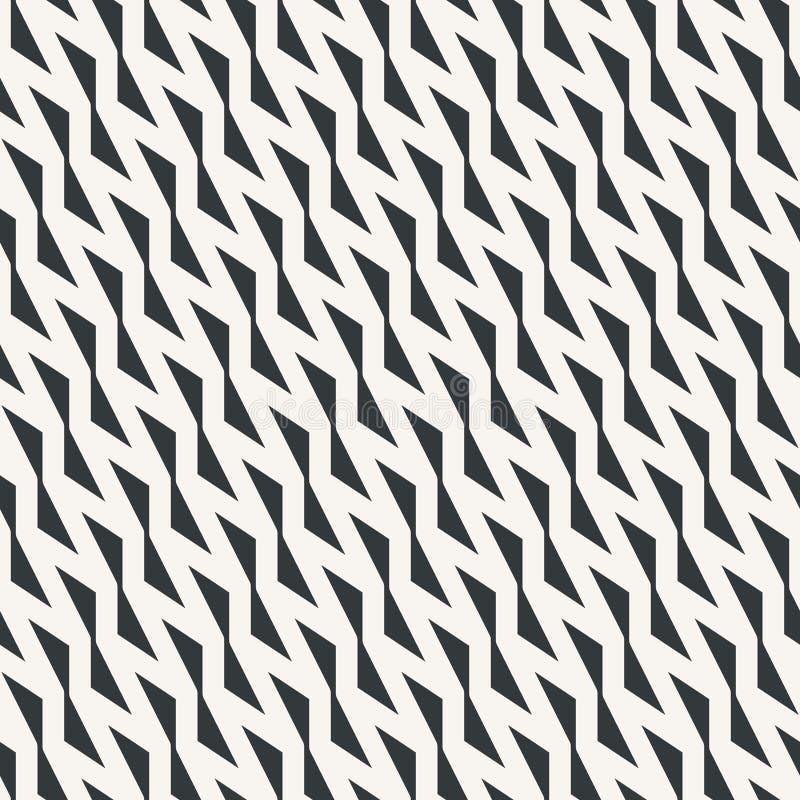 Цвета безшовной абстрактной картины острого зигзага monochrome или 2 иллюстрация штока