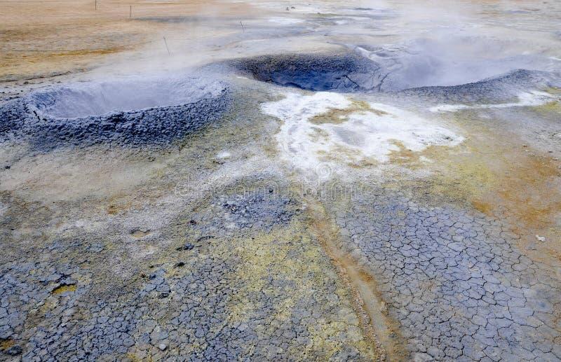 Цвета в геотермическом месте стоковое изображение