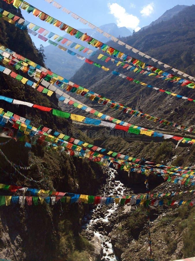 Цвета Гималаев реальные стоковая фотография