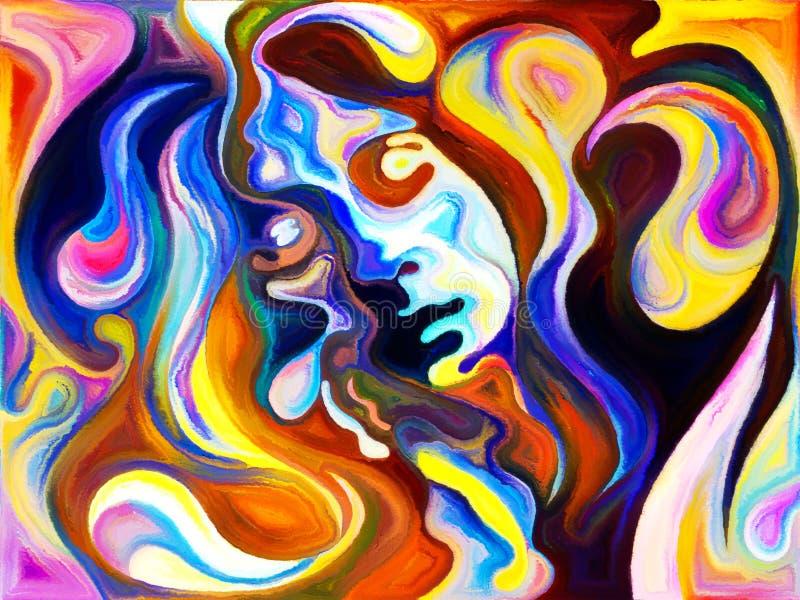 Download Цвета женского портрета иллюстрация штока. иллюстрации насчитывающей художничества - 81803713