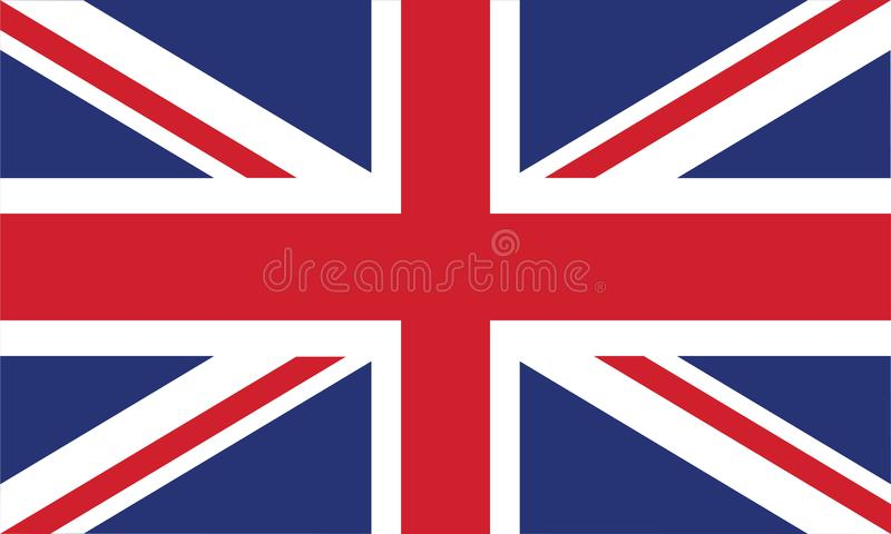 Цвета и пропорция флага Англии официальные правильно vector иллюстрация иллюстрация вектора