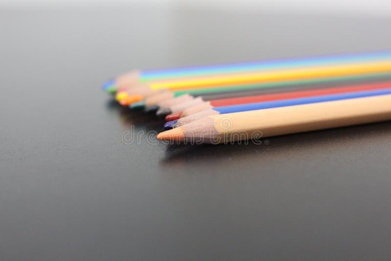 Цвета карандаша стоковые изображения rf