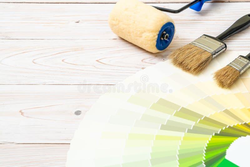 цвета образца каталогизируют pantone или образцы цвета записывают стоковое фото