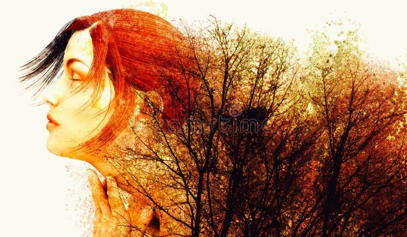Цвета осени матушка-природы иллюстрация штока