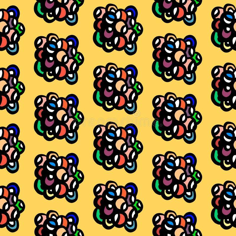 Цвета радуги руки вычерченные возражают в камне стиля минимализма мул стоковое изображение