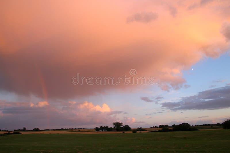 Цвета радуги горизонт стоковое изображение rf