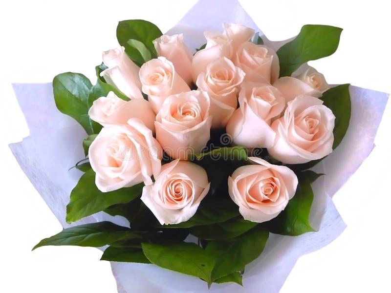Цвета розария букета на белой предпосылке стоковая фотография
