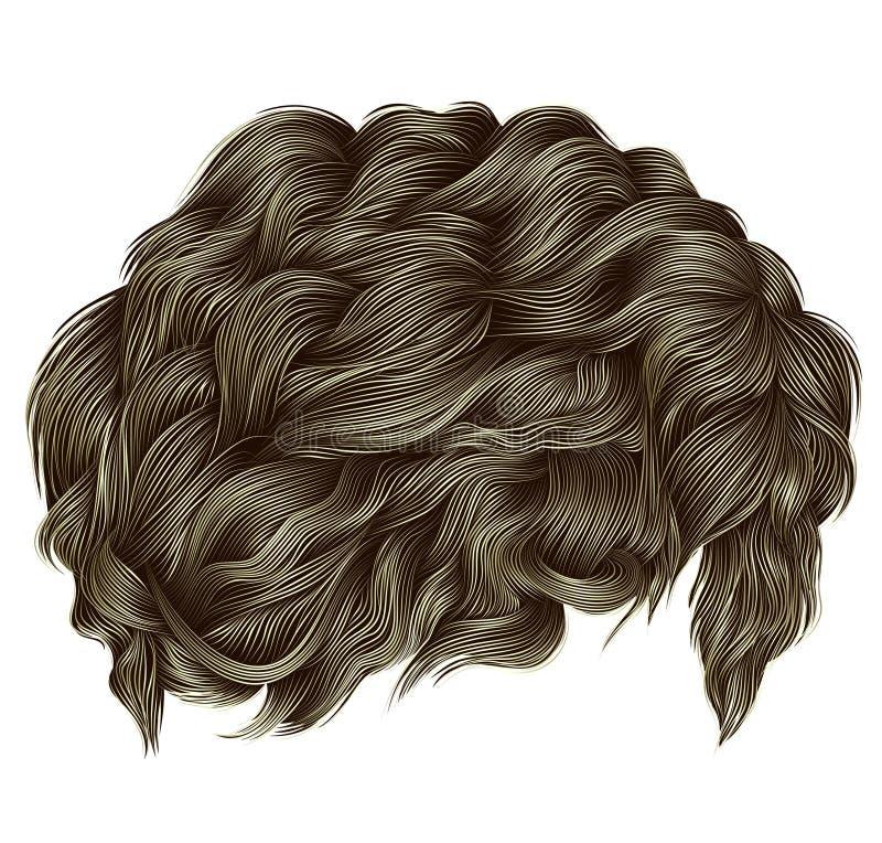 Цвета ультрамодных вьющиеся волосы белокурые средств длина styl красоты иллюстрация вектора