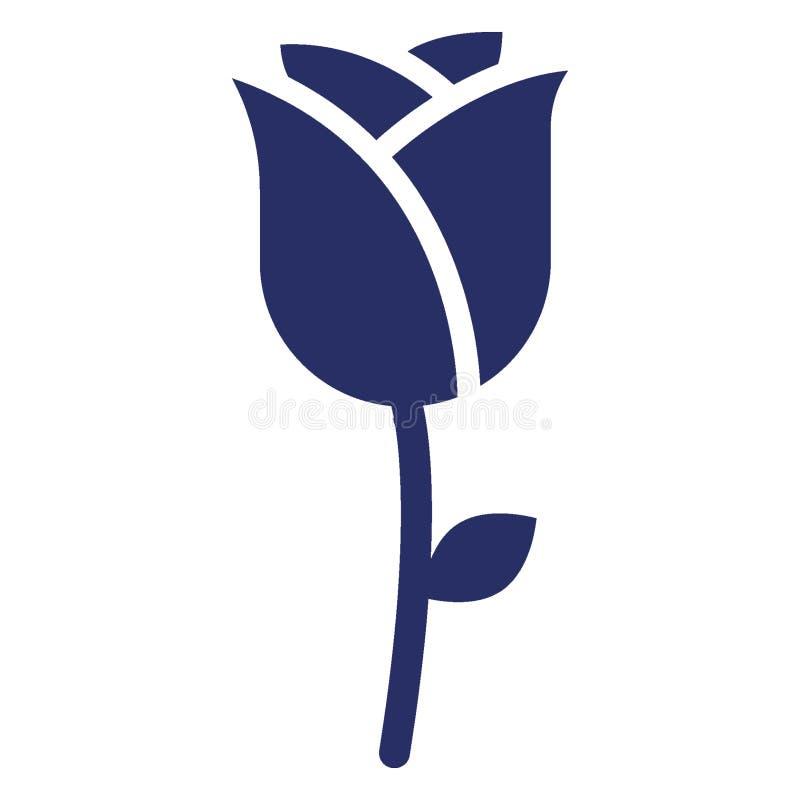 Цветене, зацветая изолированный цветком значок вектора который может легко доработать или отредактировать иллюстрация вектора