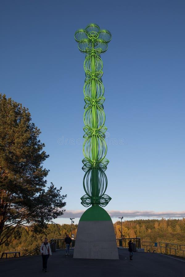 Цветение скульптуры в Alytus, Литве стоковое фото
