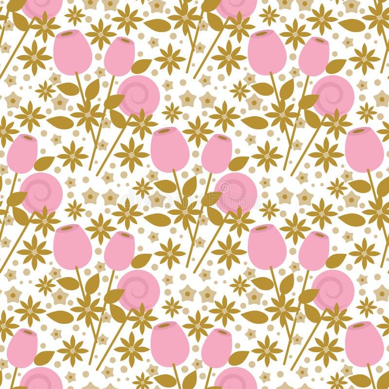 Цветения флоры дизайна природы дня рождения цветеня свадьбы бутона цветков букета картина винтажного элегантного романтичного без бесплатная иллюстрация