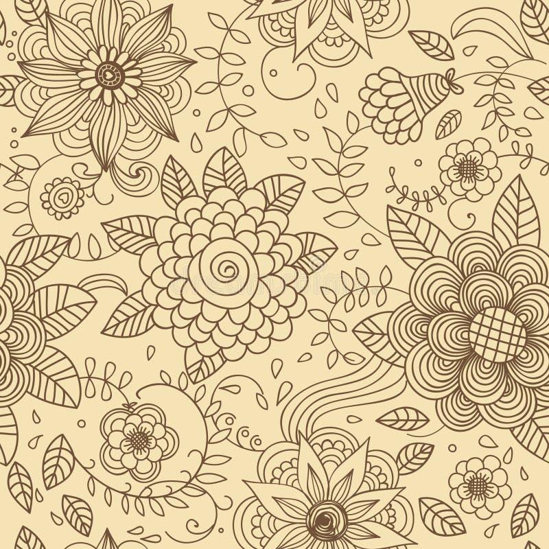 цветет безшовная текстура иллюстрация штока