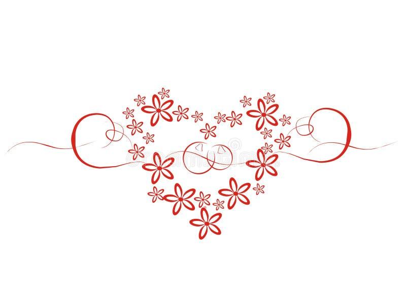 цветет венчание сердца стоковое фото