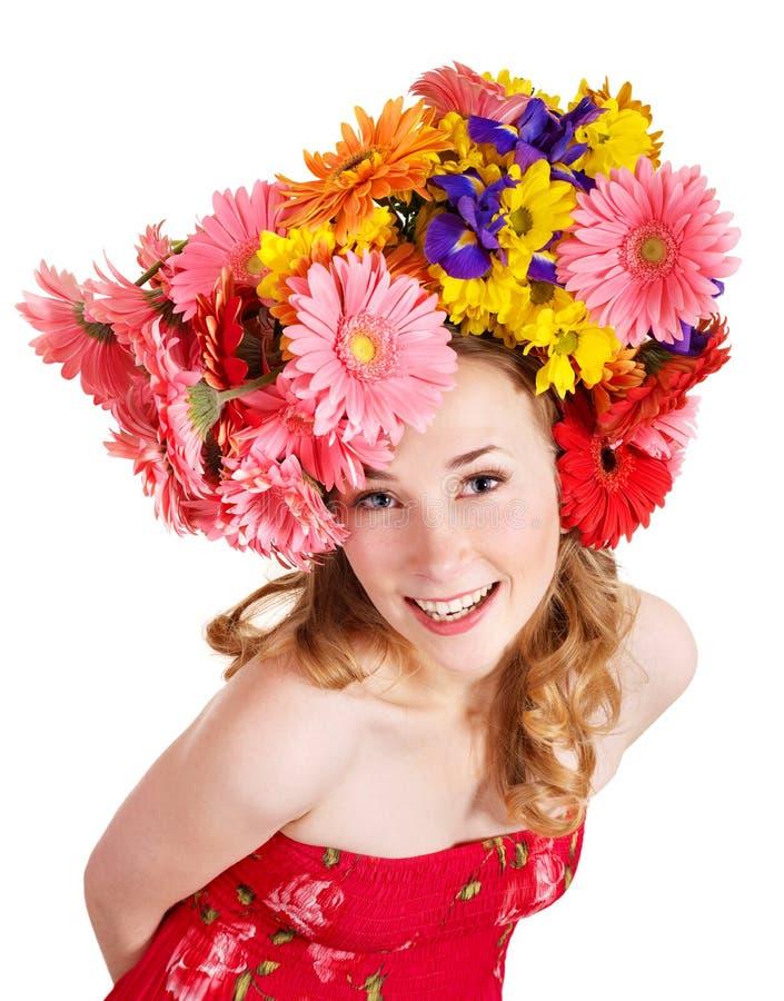 цветет волосы ее детеныши женщины стоковые изображения
